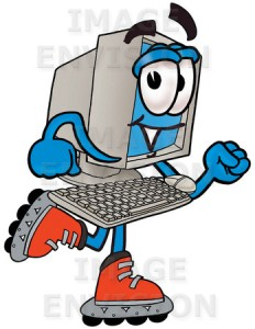 desktop_computer_cartoon_character_roller_blading_on_inline_skates